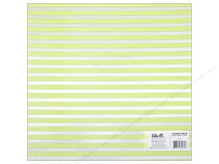 Plastics Plastic / Acetate Sheets: We R Memory Keepers Acetate Sheet 12 x 12 in. Clearly Bold Neon Green Stripe (12 pieces)
