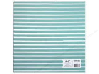 Plastics New: We R Memory Keepers Acetate Sheet 12 x 12 in. Clearly Bold Neon Teal Stripe (12 pieces)