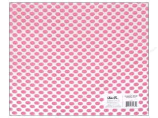 Plastics New: We R Memory Keepers Acetate Sheet 12 x 12 in. Clearly Bold Neon Pink Dot (12 pieces)