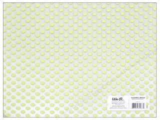 Plastics New: We R Memory Keepers Acetate Sheet 12 x 12 in. Clearly Bold Neon Green Dot (12 pieces)