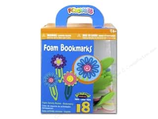 New Year: Darice Foamies Activity Bucket Flower Bookmarks