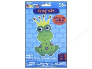 Sequins Green: Darice Foamies Foam Kit Green Frog With Crown 7""