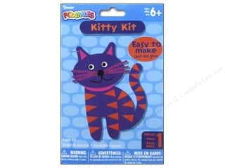 "Kids Crafts New: Darice Foamies Foam Kit Kitty 5.5"" Pink"