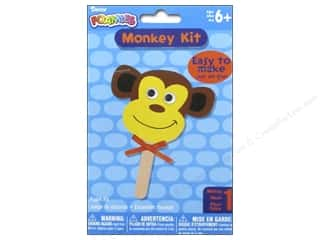 Foam Darice Dura Foam: Darice Foamies Foam Kit Monkey Face 8.5""