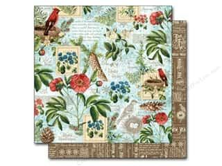"Papers New: Graphic 45 A Time To Flourish Collection Paper 12""x 12"" January (25 pieces)"
