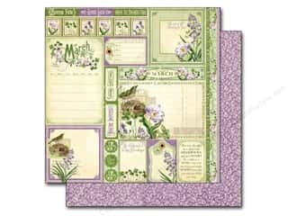 "Wedding St. Patrick's Day: Graphic 45 A Time To Flourish Collection Paper 12""x 12"" Cut Apart March (25 pieces)"