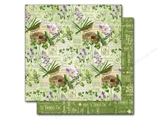 "Bazzill St. Patrick's Day: Graphic 45 A Time To Flourish Collection Paper 12""x 12"" March (25 pieces)"