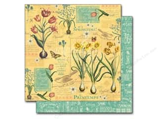 "New Easter: Graphic 45 A Time To Flourish Collection Paper 12""x 12"" April (25 pieces)"