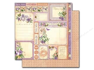 "Laces New: Graphic 45 A Time To Flourish Collection Paper 12""x 12"" Cut Apart May (25 pieces)"