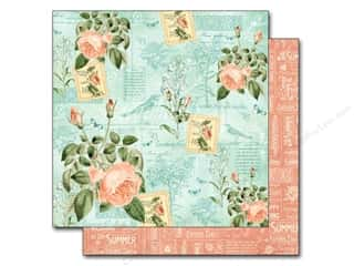 "Summer New: Graphic 45 A Time To Flourish Collection Paper 12""x 12"" June (25 pieces)"