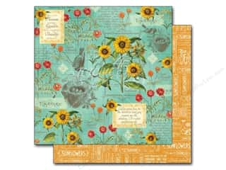 "Summer New: Graphic 45 A Time To Flourish Collection Paper 12""x 12"" August (25 pieces)"