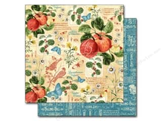 Fruit & Vegetables Back To School: Graphic 45 12 x 12 in. Paper A Time To Flourish September Flourish (25 pieces)