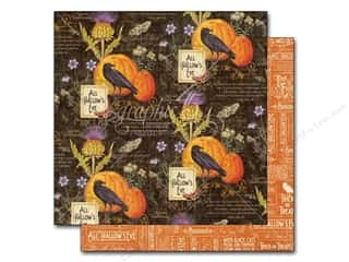 Halloween New: Graphic 45 12 x 12 in. Paper A Time To Flourish October Flourish (25 pieces)