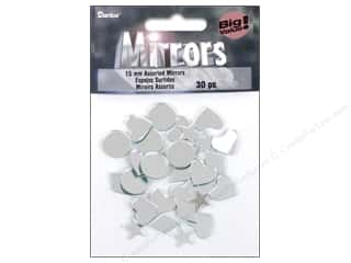 Hearts Basic Components: Darice Mirrors Acrylic Assorted Shapes 5/8 in. 30 pc.