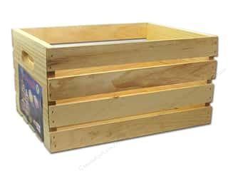 "Woodworking Wood: Darice Wood Unfinished Crate 18""x 12.5""x 9.5"""