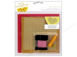 Punches New: American Crafts Embroidery Kit Amy Tangerine Stitched Hello