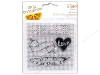 Straight Stitch Rubber Stamping: American Crafts Clear Stamps Amy Tangerine Stitched Day Dream