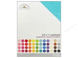 Doodlebug Cream/Natural: Doodlebug 8 1/2 x 11 in. Cardstock Pack Textured Rainbow
