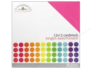 Papers Textured Papers: Doodlebug 12 x 12 in. Cardstock Pack Textured Bright