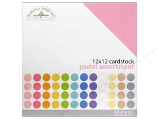 Doodlebug Cream/Natural: Doodlebug 12 x 12 in. Cardstock Pack Textured Pastel