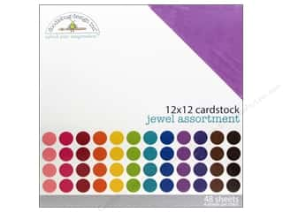 Jewel Craft Black: Doodlebug 12 x 12 in. Cardstock Pack Textured Jewel