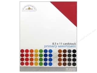 cardstock sale: Doodlebug 8 1/2 x 11 in. Cardstock Pack Textured Primary