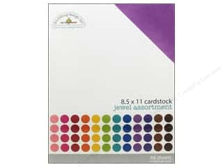 Jewel Craft Black: Doodlebug 8 1/2 x 11 in. Cardstock Pack Textured Jewel