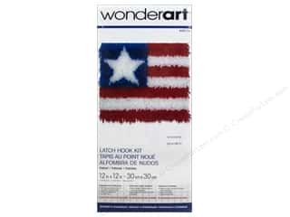 Yarn & Needlework Americana: Wonderart Latch Hook Kit 12 x 12 in. Patriot