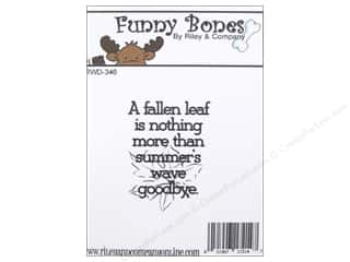 Captions Fall / Thanksgiving: Riley & Company Cling Stamps A Fallen Leaf