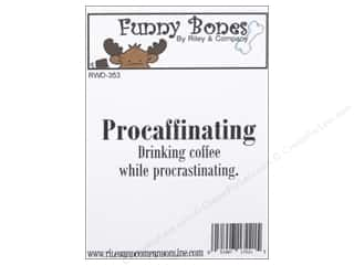 Tea & Coffee Scrapbooking & Paper Crafts: Riley & Company Cling Stamps Procaffinating