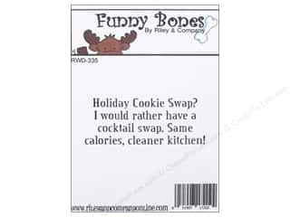 Cleaners and Removers inches: Riley & Company Cling Stamps Holiday Cookie Swap