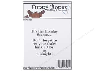 Holiday Sale Stampendous Cling Rubber Stamp: Riley & Company Cling Stamps Funny Bones It's The Holiday Season