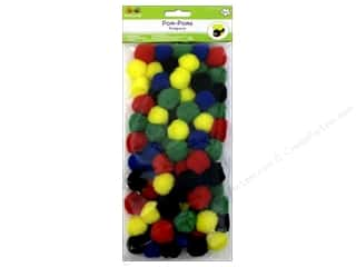 Pom Poms multi: Multicraft Krafty Kids Pom Poms 25mm Primary 80pc