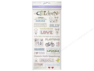 Children Black: Multicraft Sticker Clear Children