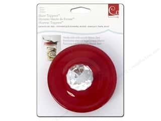 Unique New: Cosmo Cricket Embellishment Show Toppers Knob & Lid Crystal/Red