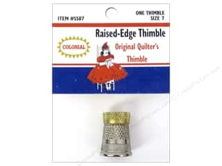 Colonial Needle Finger: Colonial Needle Raised Edge Thimble Size 7