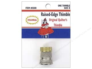 Colonial Needle Finger: Colonial Needle Raised Edge Thimble Size 8