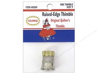 Colonial Needle Finger: Colonial Needle Raised Edge Thimble Size 9