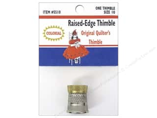 Colonial Needle Finger: Colonial Needle Raised Edge Thimble Size 10