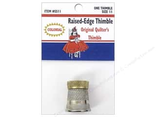 Colonial Needle Finger: Colonial Needle Raised Edge Thimble Size 11