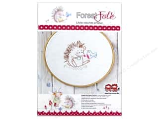 Embroidery New: Red Brolly Kit Forest Folk A Chat With A Friend