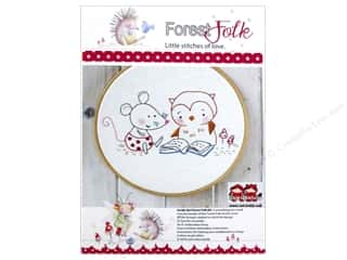 Embroidery New: Red Brolly Kit Forest Folk A Good Story
