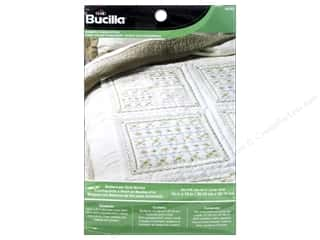 Stamped Goods $6 - $7: Bucilla Stamped Cross Stitch Quilt Block 15 in. Buttercups 6 pc.