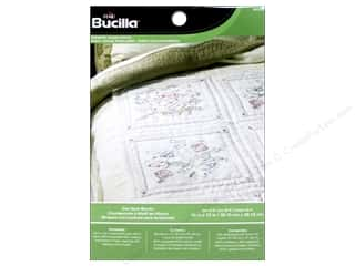Cross Stitch Project $3 - $6: Bucilla Stamped Cross Stitch Quilt Blocks 15 in. Owl 6 pc.