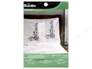 Inks Gifts & Giftwrap: Bucilla Stamped Embroidery Pillowcase Blue & Violet Bouquet