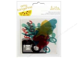 American Crafts Sheets: American Crafts Die Cut Acrylic Shapes Amy Tangerine Stitched