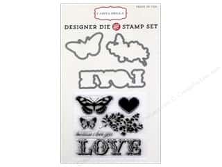 Carta Bella Hearts: Carta Bella Die & Stamp Set Words of Love Because I Love