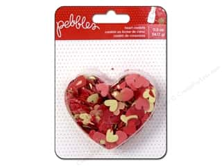 Mother's Day Gift Ideas $0 - $5: Pebbles We Go Together Collection Confetti Hearts
