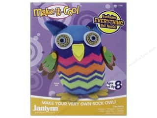 Socks Projects & Kits: Janlynn Kit Make It Cool Sock Animal Olive The Owl