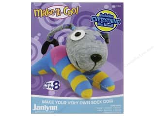 Socks Projects & Kits: Janlynn Kit Make It Cool Sock Animal Duke The Dog